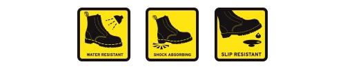 Water Resistant Shock Absorbing Slip Resistant