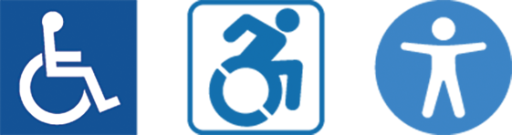 Wheelchair logo static, wheelchair image moving,