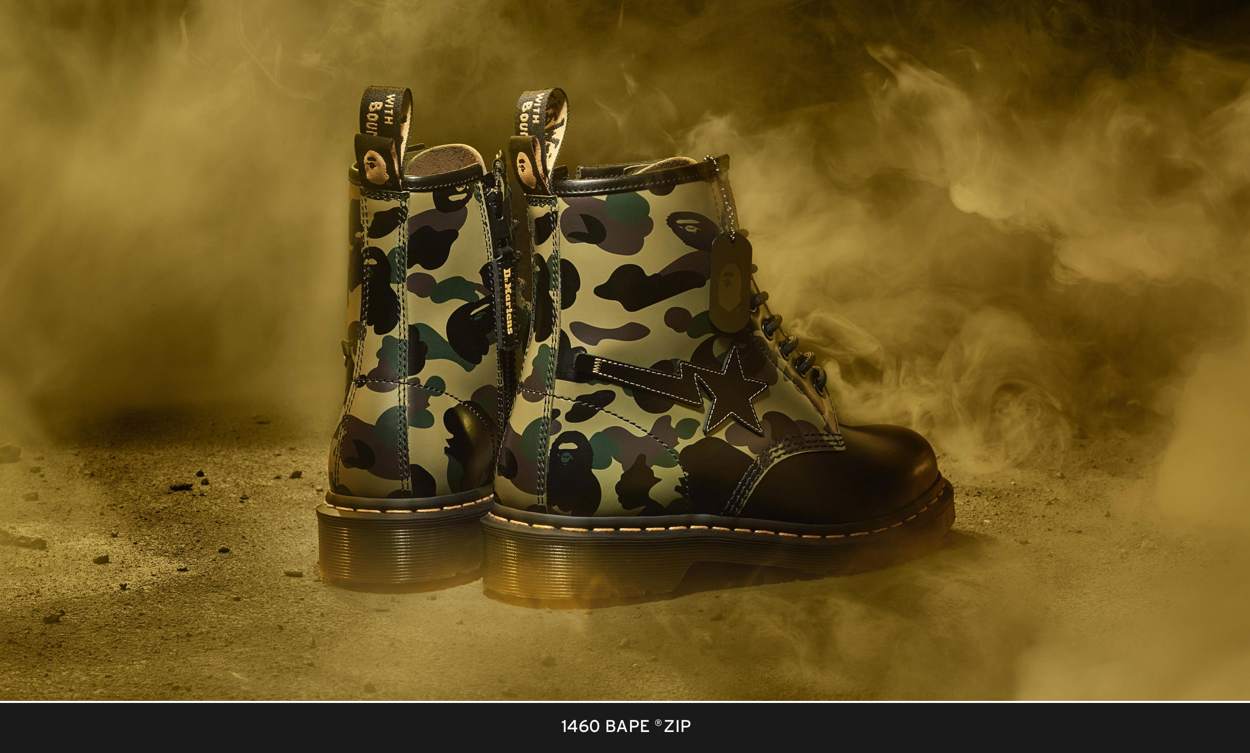 Bape x Dr Martens 1460: Collaboration Boot Officially Drops