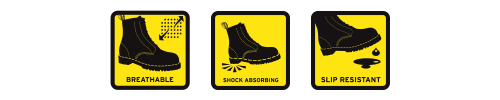 Breathable Shock Absorbing Slip Resistant
